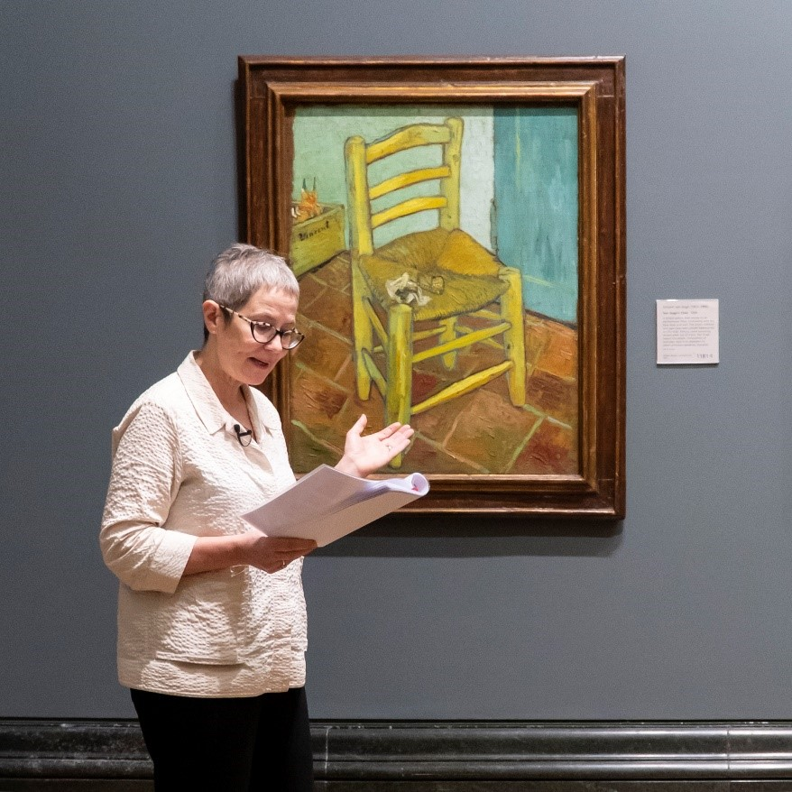 <em>A highlight of the tour was Vincent Van Gogh's Chair, which was the subject of the final part of the students' tour.</em>
